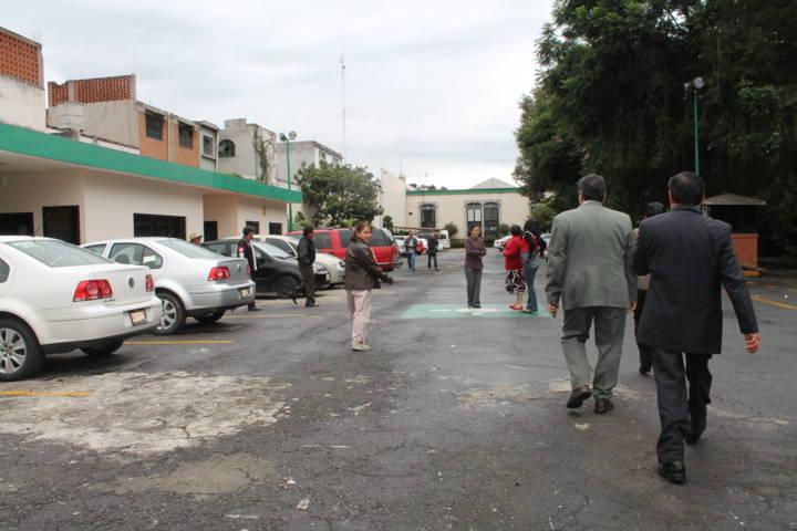 Realizan simulacro de sismo en Colegio de Bachilleres Tlaxcala