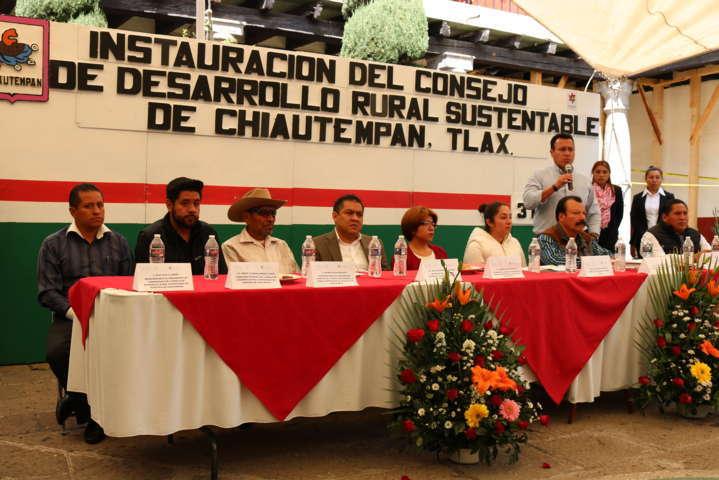 Instala Chiautempan Consejo de Desarrollo Rural Sustentable