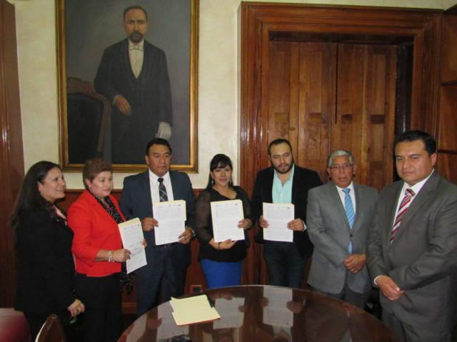Acuerdan PGJE, CJM y ayuntamiento de Tlaxcala hacer frente a la violencia contra las mujeres