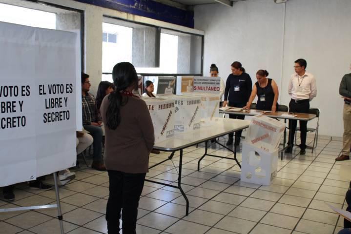 Muestra INE Tlaxcala simulacro de la jornada electoral