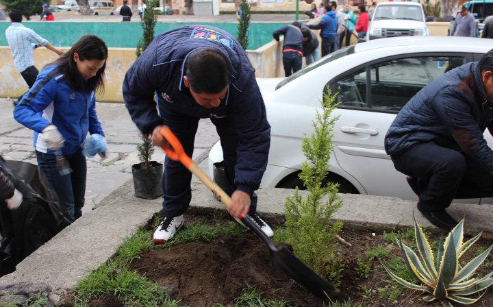 """Las jornadas """"Por un Huamantla más limpio"""" ahora en  Plazuelas"""