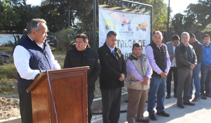 Beneficia Ayto. De Huamantla a Col. Emiliano Zapata con rehabilitación de su drenaje sanitario