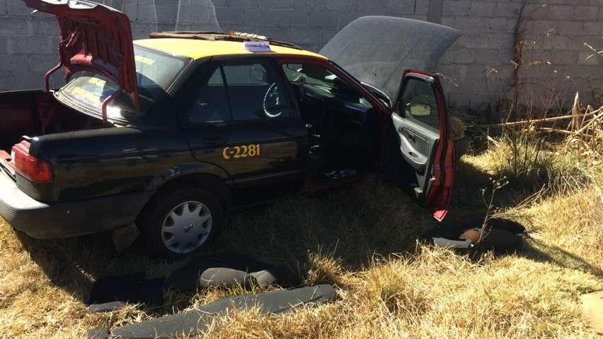 Catea PGJE predio y recupera un taxi de Puebla