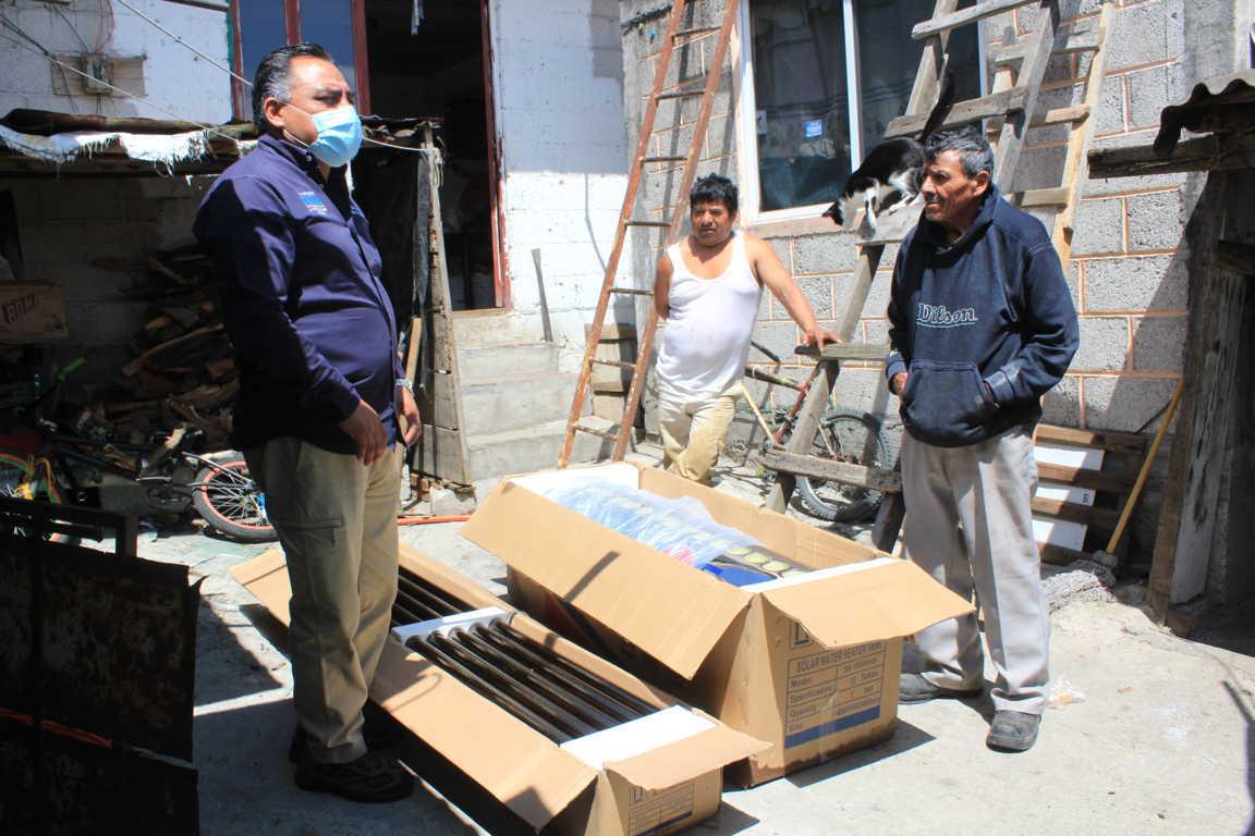 Un éxito programa de calentadores solares en Tetla de la Solidaridad