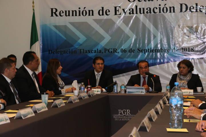 PGR Tlaxcala realiza octava reunión de evaluación delegacional