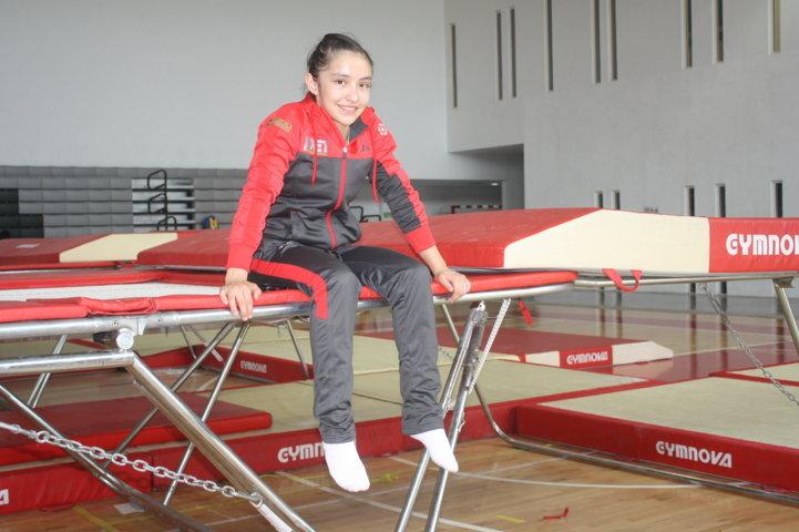 Logra Carolina Peregrina bronce en gimnasia de trampolín de Olimpiada Nacional