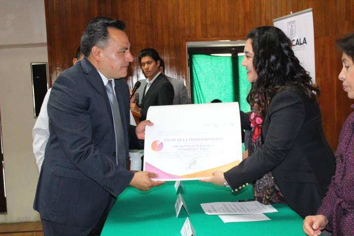 Recibe Tetla reconocimiento de participación en la Agenda para el Desarrollo Municipal 2017