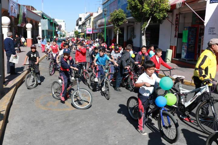 Con gran rodada conmemora Chiautempan Día Mundial de la Bicicleta