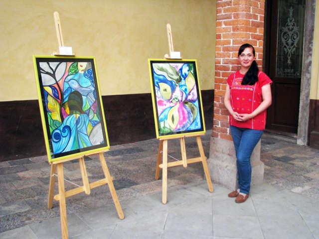 Presenta Maya Balcázar exposición pictórica