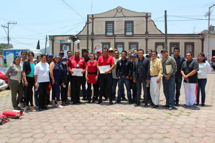 Ayuntamiento de Tetla de la Solidaridad se capacita en cursos de Protección Civil