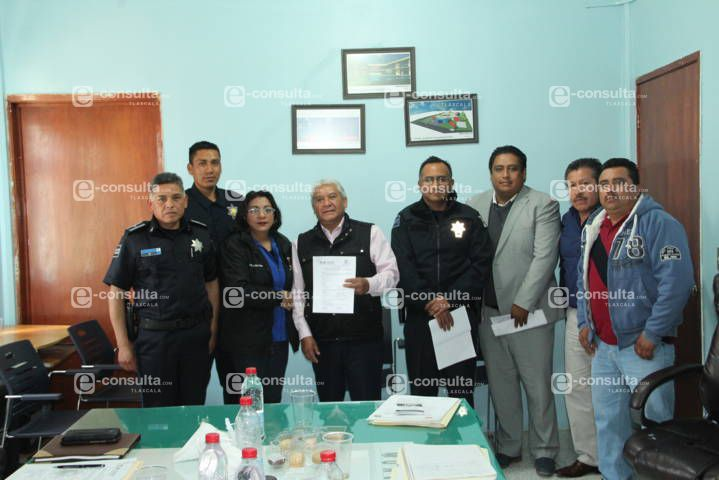 Alcalde fortalece la seguridad con la policía federal, estatal y la PGJE