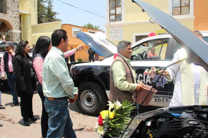Alcalde fortalece el área de seguridad con 3 nuevas patrullas