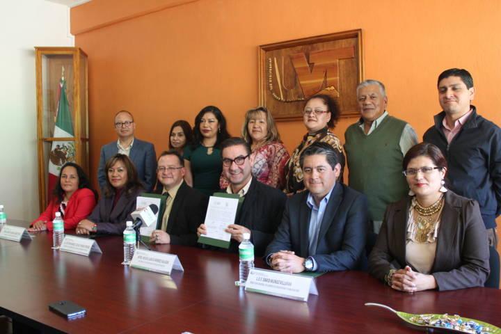 La CEDH fortalece relación con la Universidad del Valle de Tlaxcala