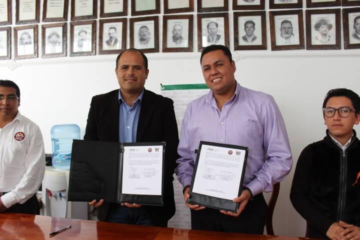 Signan Santa Cruz Tlaxcala y Sepuede-Icatlax convenio de colaboración institucional