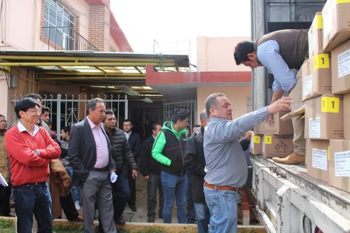 Recibe INE Tlaxcala último embarque de material electoral del PEF 2017-2018