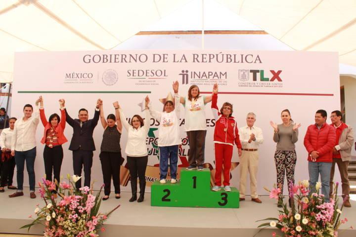 Se inauguraron en Tetla los XX Juegos del INAPAM