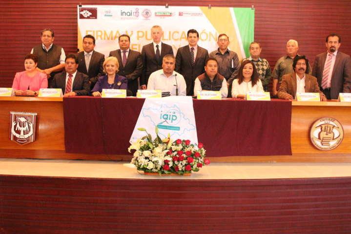 IAIP Tlaxcala da seguimiento a compromisos hechos en Xicohtzinco