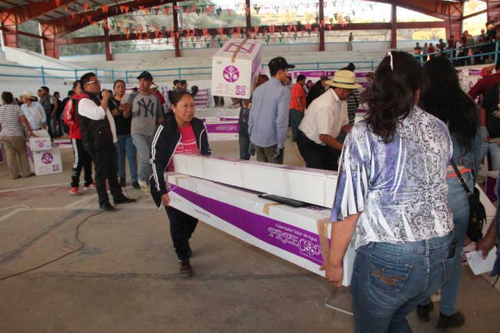 En esta 2da entrega de calentadores apoyamos a 456 familias: Murias Juárez