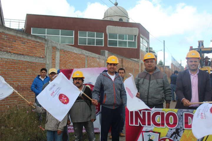 Inician obra de pavimientación en Calle Emiliano Zapata en San Miguel Contla