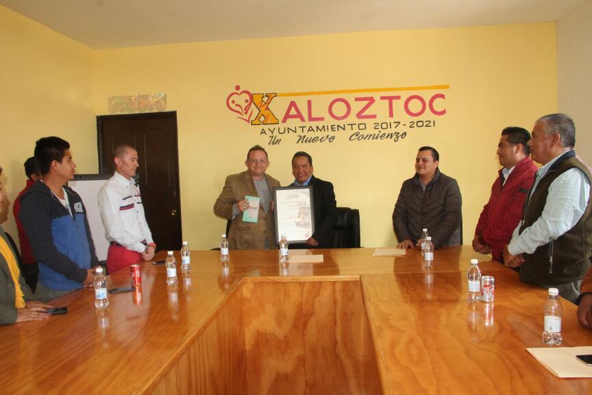 Derechos Humanos galardona a Xaloztoc con el distintivo DH