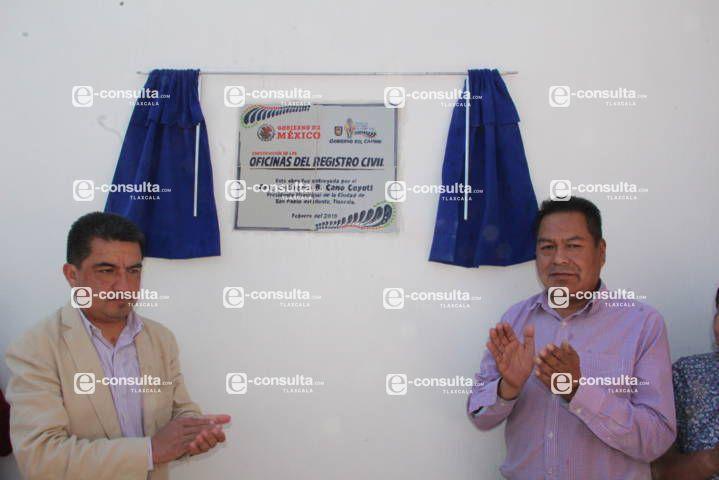 Cano Coyotl entregó nuevas oficinas del Registro Civil en SPM