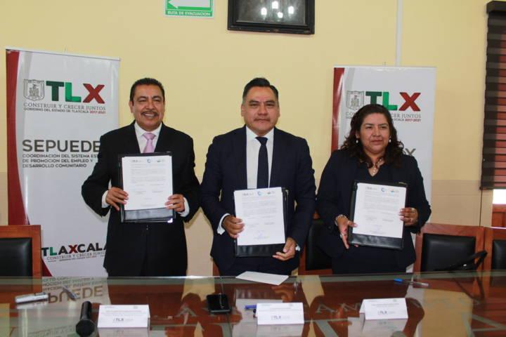 Tetla, Icatlax y CBTIS firman convenio de colaboración en beneficio de estudiantes