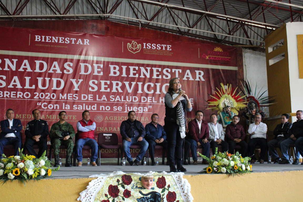 Exitosas  Jornadas de Bienestar,  Salud y Servicios en Xaloztoc