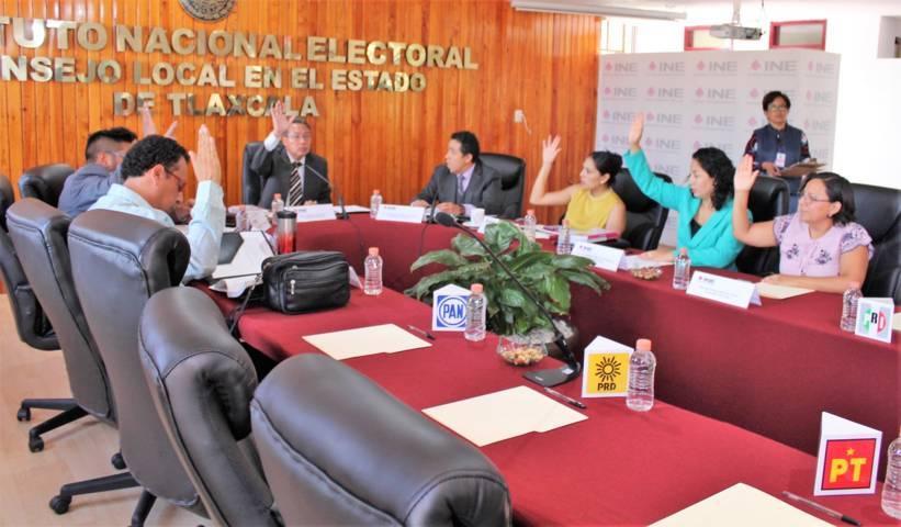 En sesión ordinaria, presenta INE Tlaxcala informes