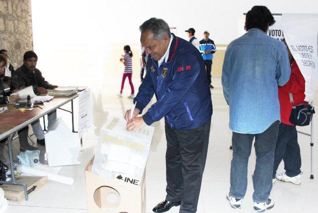 En Huamantla  se lleva a cabo jornada electoral en paz