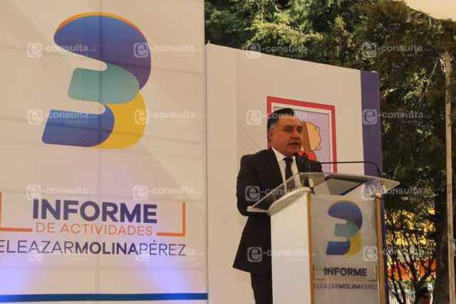 Alcalde resalta obras y acciones en su 3er informe de gobierno
