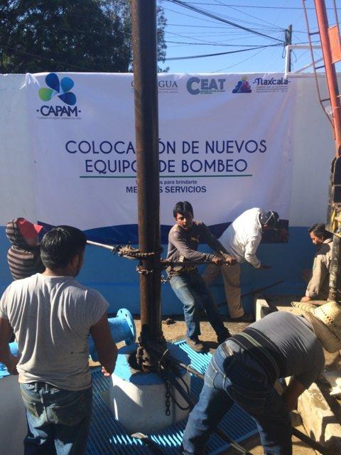 Concluye CAPAM la instalación de nuevos equipos de bombeo en la capital.