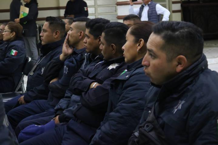 Reciben Policías De Chiautempan taller sobre Derechos Humanos en el NSDJPA