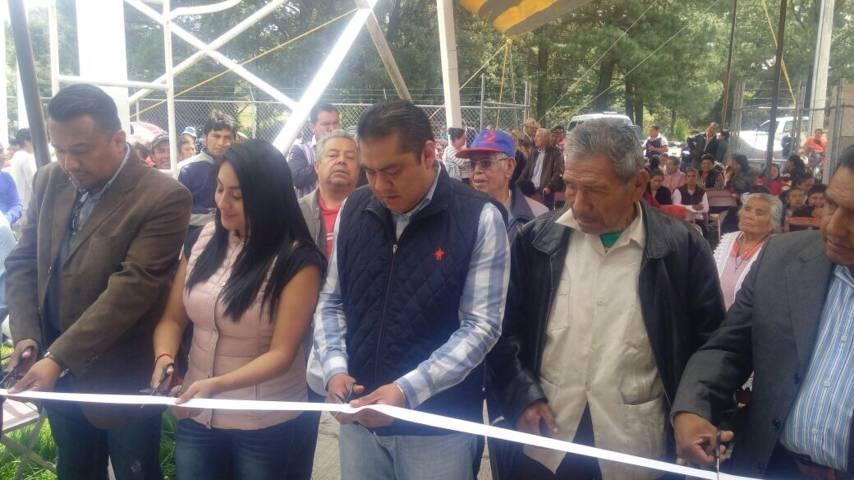 Inauguran Autoridades Municipales rehabilitación del pozo de Xochiteotla