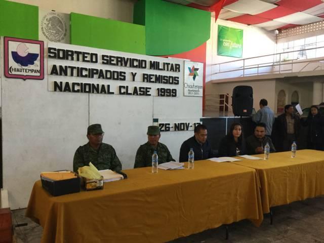 Realizan Sedena y Ayuntamiento de Chiautempan Sorteo para el Servicio Militar, clase 1999