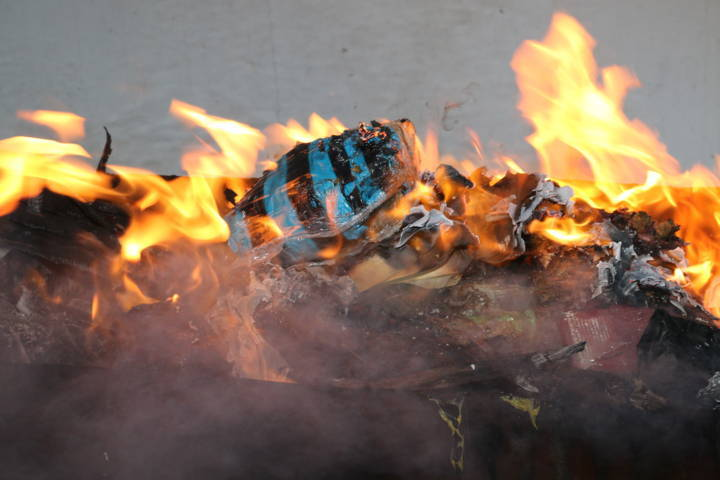 Incineran más de 40 kilos de droga en Tlaxcala