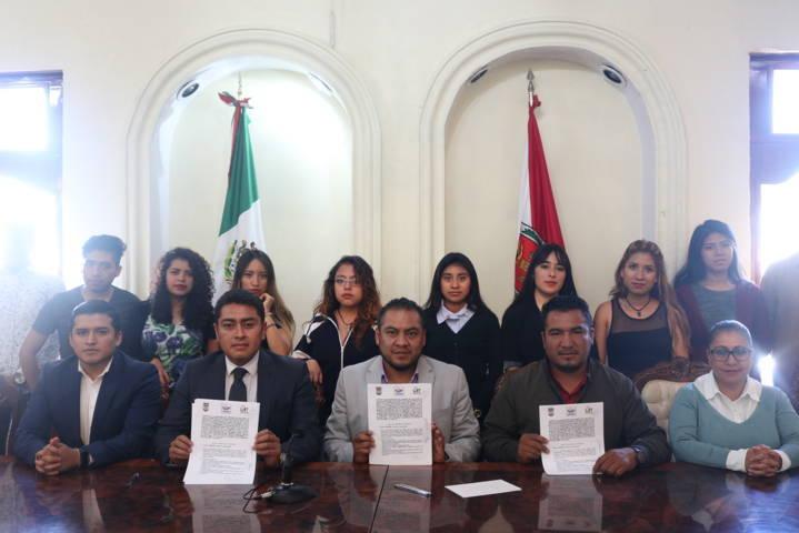 Firman convenio de colaboración Chiautempan y la UAT campus San Pablo Del Monte