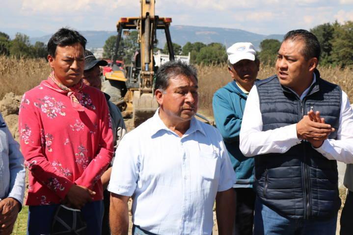 Amplía Héctor Domínguez Rugerio red de drenaje con más de 500 metros lineales