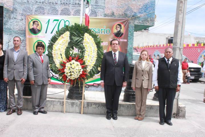 Sánchez Jasso encabeza ceremonia del 170 aniversario de la Gesta Heroica