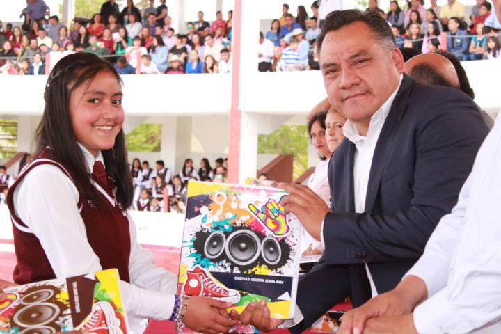 Clausura Eleazar Molina curso escolar de la Técnica 14 en Tetla