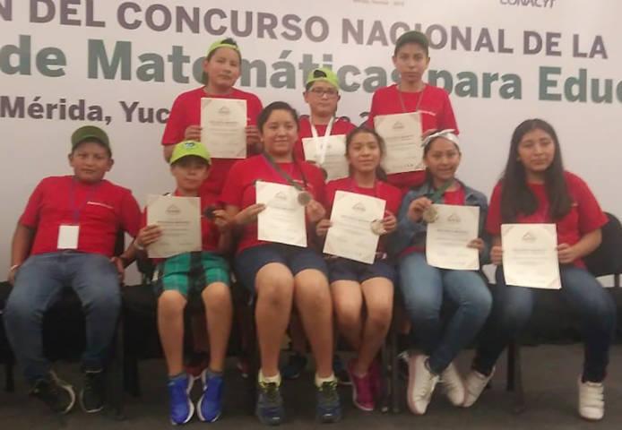 Gana Tlaxcala seis medallas en Olimpiada Nacional de Matemáticas