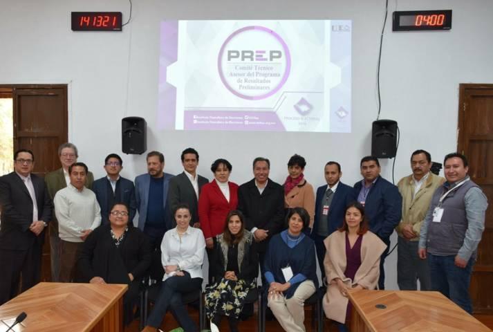 Presenta ITE a Cotaprep del INE avances del PREP para proceso local