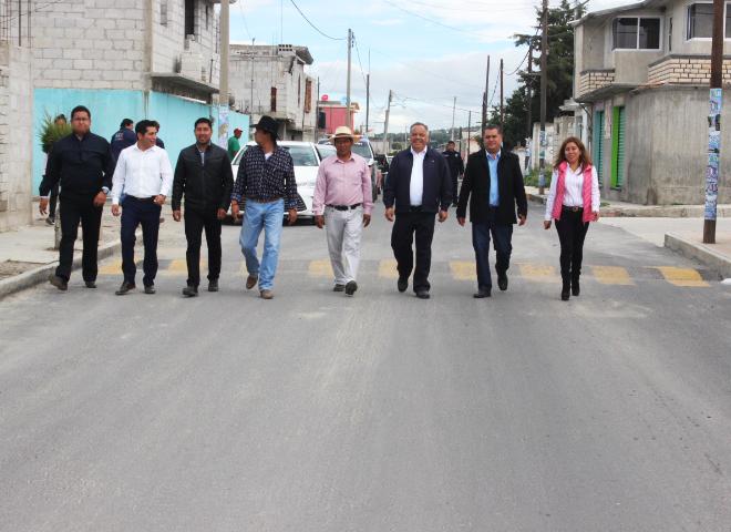 En Huamantla la entrega de obras no se detiene