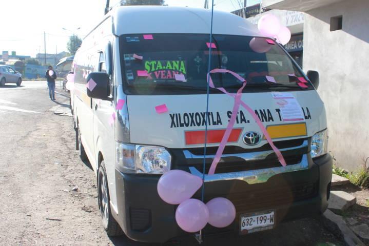 Utilizamos el transporte para sensibilizar a la mujer sobre el cáncer: Rosa Serrano
