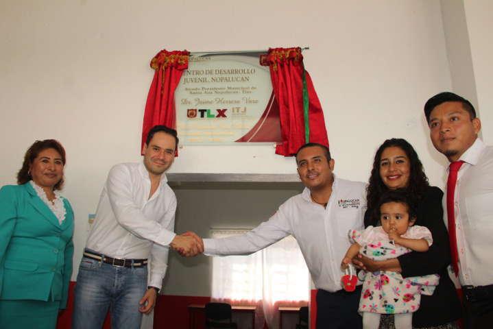 Nopalucan cuenta con Centro de Desarrollo Juvenil gestión del alcalde
