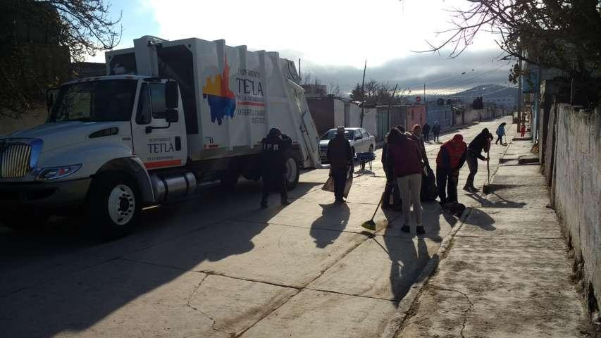 Se realizó Jornada de Limpieza en la comunidad de Capulac en Tetla de la Solidaridad