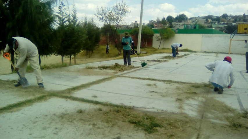 Realizan jornadas de limpieza en Texoloc