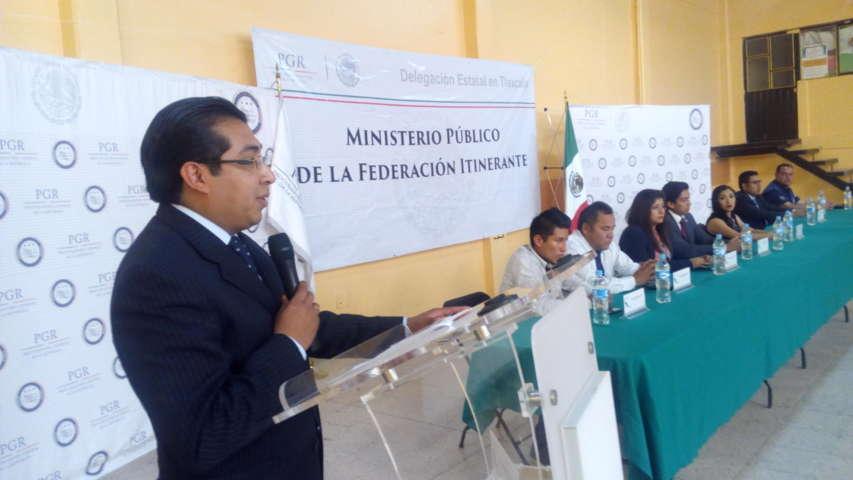 Presenta PGR programa del Ministerio Público Itinerante en Santa Cruz Tlaxcala