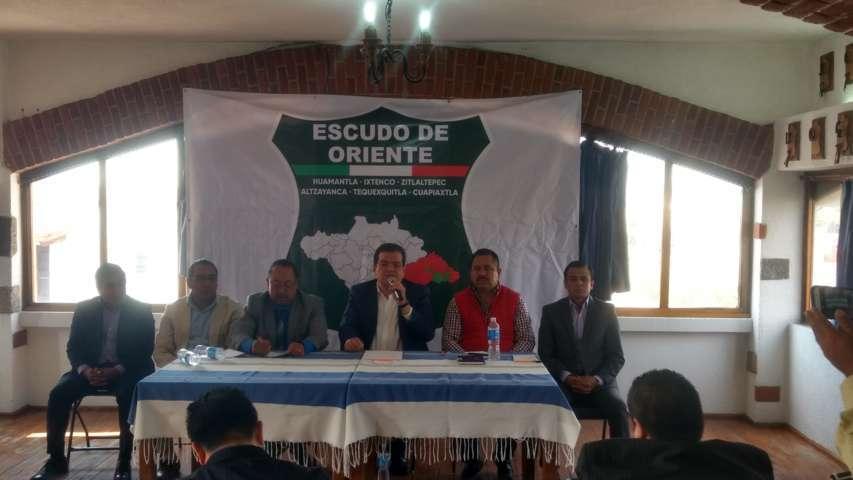 Se unen seis alcaldes del oriente contra la delincuencia