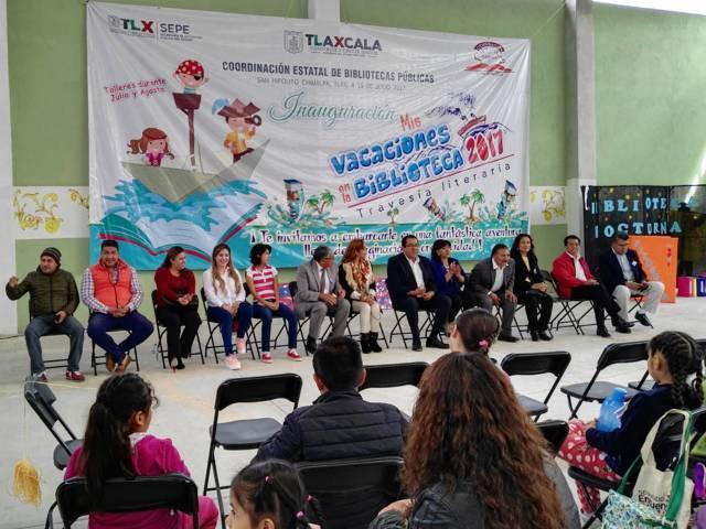 """Inauguran """"Mis Vacaciones en la Biblioteca"""" en Chimalpa"""