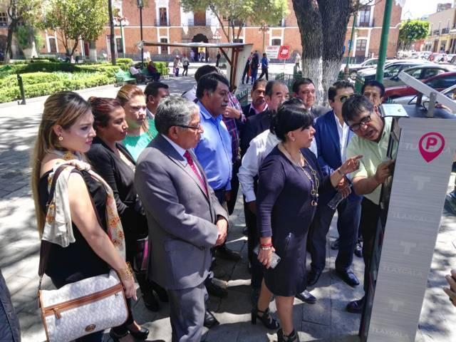Ya funcionan parquímetros de Tlaxcala; son operados por el ayuntamiento